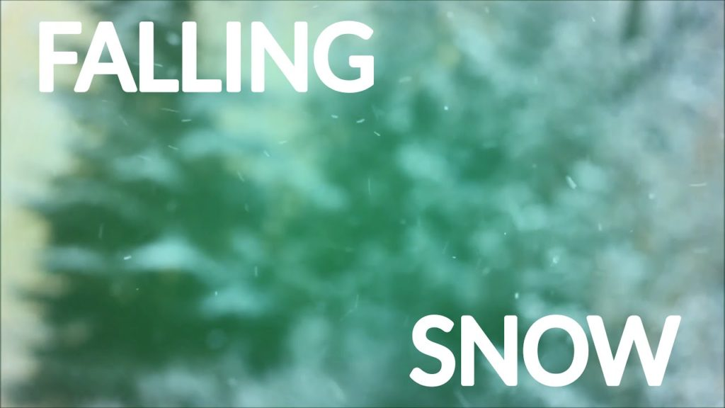 Calming winter falling snow in the forest. Relaxing nature sounds and music for rest and sleeping
